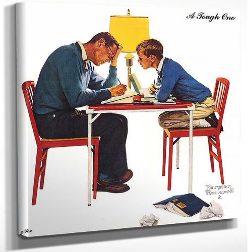 A Tough One By Norman Rockwell Art Reproduction from Wanford.