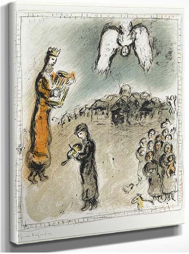 Appearance Of King David 1980 By Marc Chagall