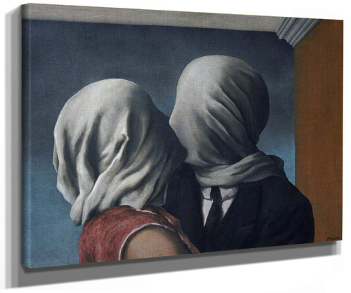 The Lovers 1928 by Rene Magritte