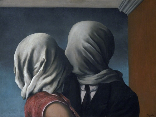 The Lovers 1928 by Rene Magritte Print