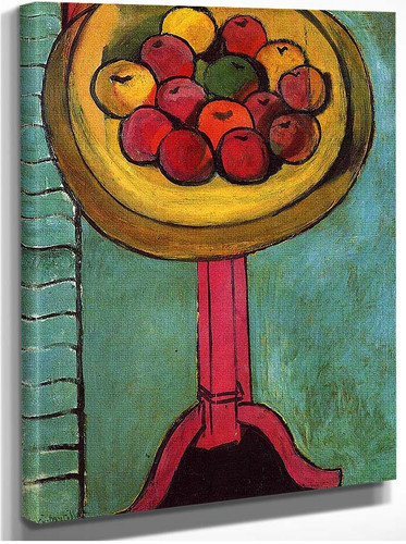 Apples On A Table Green Background 1916 By Henri Matisse