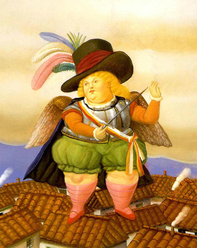 Archangel With Black Hat By Fernando Botero Art Reproduction from Wanford