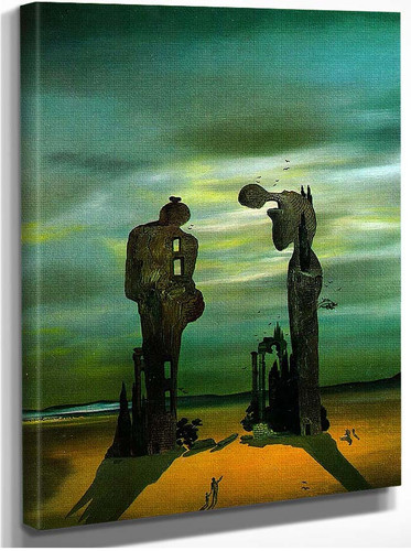 Archeological Reminiscence Millet S Angelus By Salvador Dali