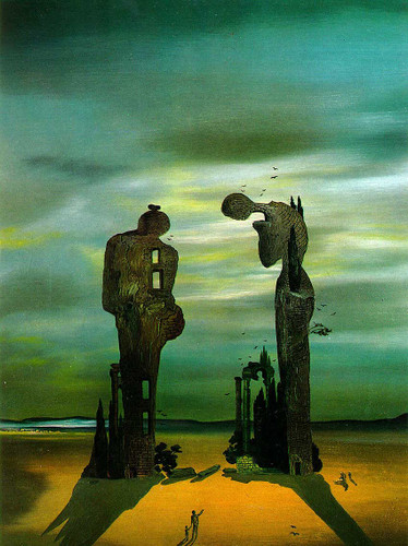 Archeological Reminiscence Millet S Angelus By Salvador Dali Art Reproduction from Wanford