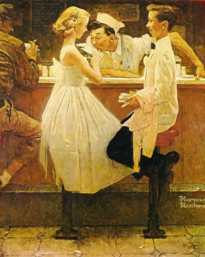 Affter The Prom by Norman Rockwell Print
