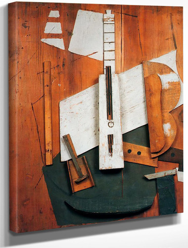 Guitar And Bottle by Picasso