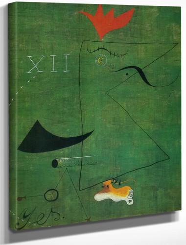 The Gentleman 1924 by Joan Miro