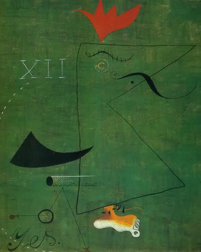 The Gentleman 1924 by Joan Miro Print