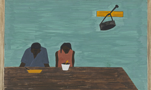 Migration Panel 10 They Were Very Poor by Jacob Lawrence Print