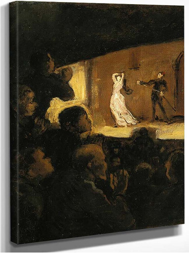 At The Theater By Daumier Honore