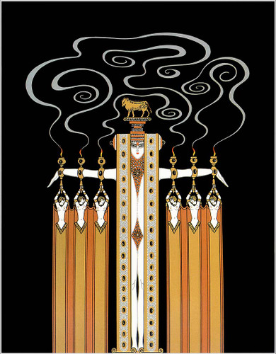 At The Theatre Golden Calf By Erte Art Reproduction from Wanford