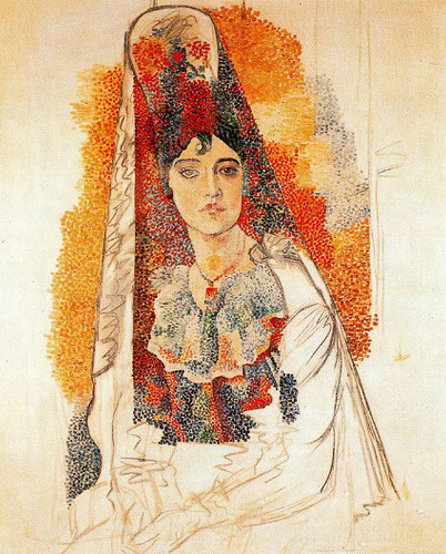 Woman With Spanish Dress 1917 By Pablo Picasso Art Reproduction from Wanford
