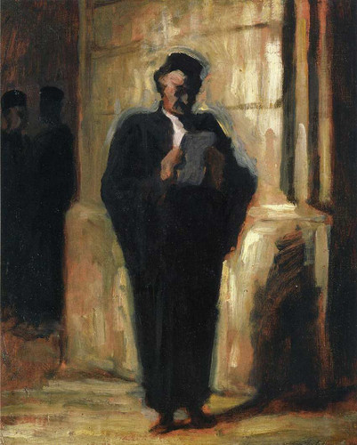 Attorney Reading By Daumier Honore Art Reproduction from Wanford