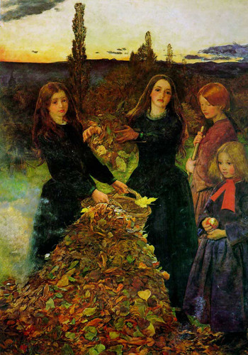 Autumn Leaves 1856 By John Everett Millais Art Reproduction from Wanford