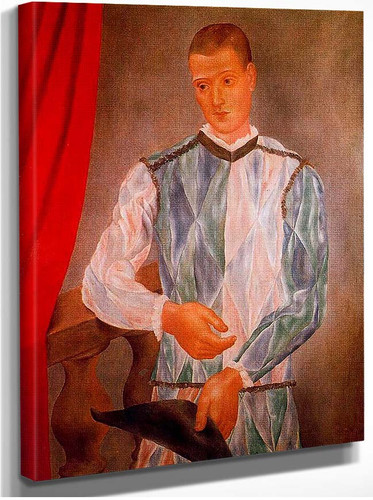 Barselona Harlequin 1917 By Pablo Picasso