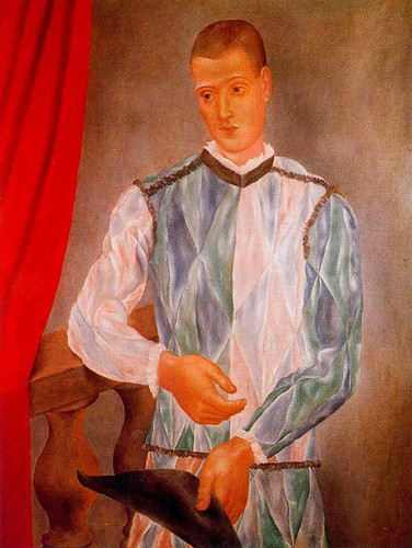 Barselona Harlequin 1917 By Pablo Picasso Art Reproduction from Wanford