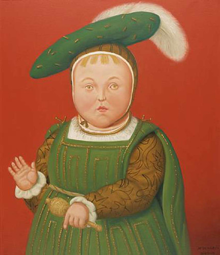 After Holbien By Fernando Botero Art Reproduction from Wanford.