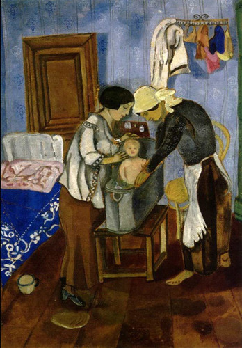 Bathing Of A Baby By Marc Chagall Art Reproduction from Wanford