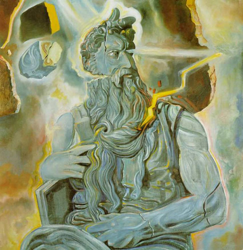 After Michelangelo S Moses On The Tomb Of Julius Ii In Rome By Salvador Dali Art Reproduction from Wanford.