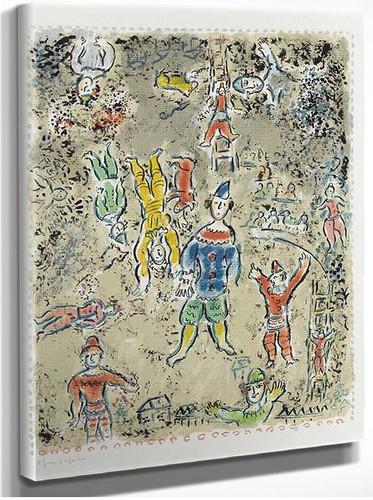 Blue Clown 1984 By Marc Chagall