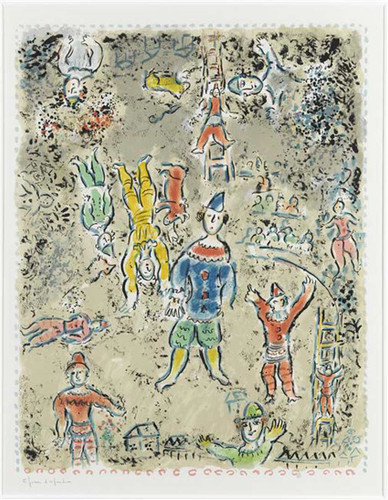 Blue Clown 1984 By Marc Chagall Art Reproduction from Wanford