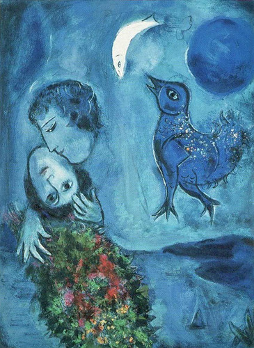 Blue Landscape By Marc Chagall Art Reproduction from Wanford