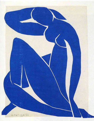 Blue Nude 1952 By Henri Matisse Art Reproduction from Wanford