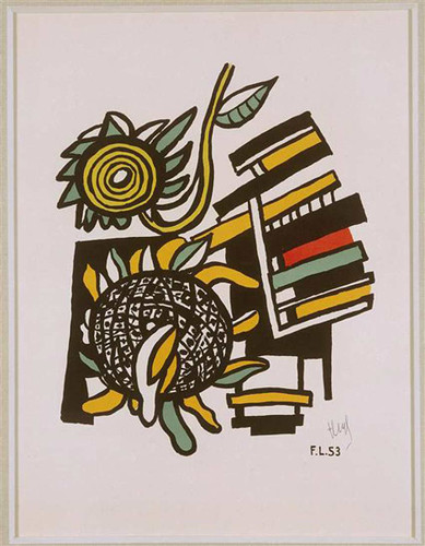 Both Sunflowers Sunflowers 1954 By Fernand Leger Art Reproduction from Wanford