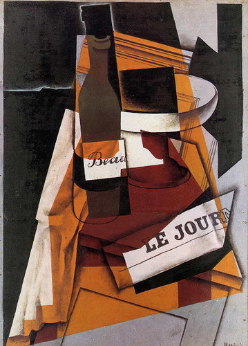 Bottle Newspaper And Fruit Bowl 1915 By Juan Gris Art Reproduction from Wanford