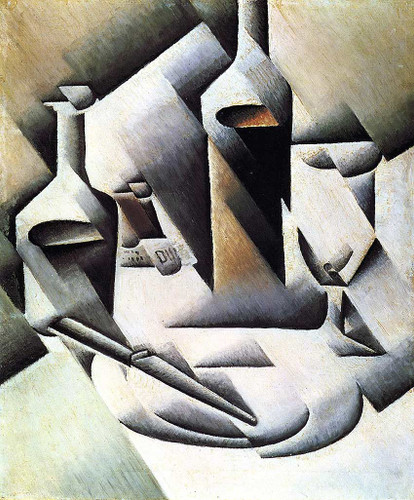 Bottles And Knife 1912 By Juan Gris Art Reproduction from Wanford