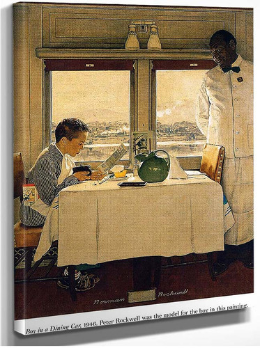 Boy In A Dining Car 1947 By Norman Rockwell