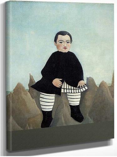 Boy On The Rocks 1895 By Henri Rousseau