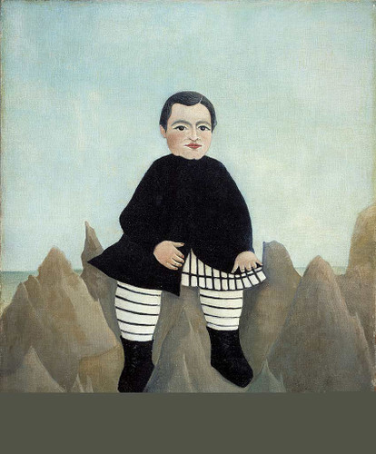 Boy On The Rocks 1895 By Henri Rousseau Art Reproduction from Wanford