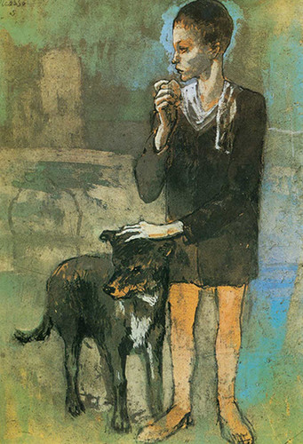 Boy With A Dog By Pablo Picasso Art Reproduction from Wanford