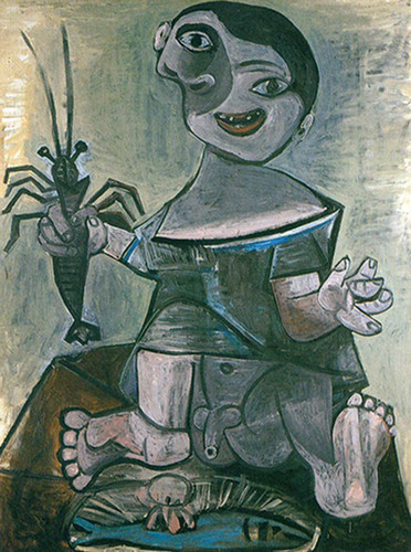 Boy With Lobster 8 By Pablo Picasso Art Reproduction from Wanford