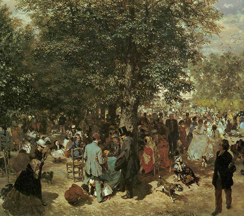 Afternoon At The Tuileries Garden By Menzel Adolph Von Art Reproduction from Wanford.