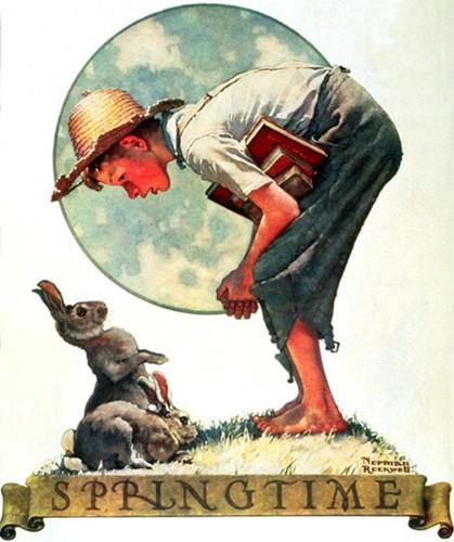 Bunny Boy By Norman Rockwell Art Reproduction from Wanford