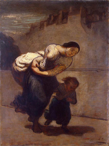 Burden By Daumier Honore Art Reproduction from Wanford