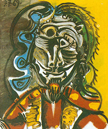 Bust Of A Man By Pablo Picasso Art Reproduction from Wanford