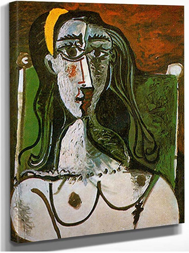 Bust Of A Seated Woman By Pablo Picasso