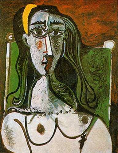 Bust Of A Seated Woman By Pablo Picasso Art Reproduction from Wanford