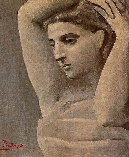 Bust Of A Woman Arms Raised 1922 By Pablo Picasso Art Reproduction from Wanford