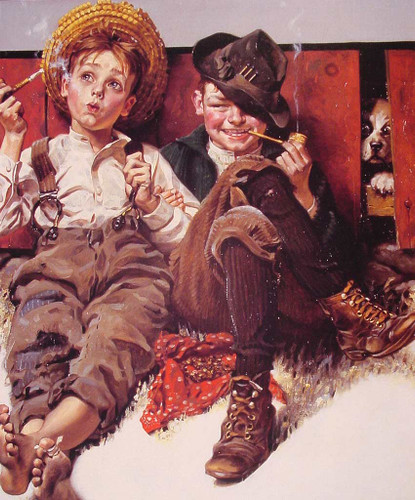 But Wait 0Til Next Week 1920 By Norman Rockwell Art Reproduction from Wanford