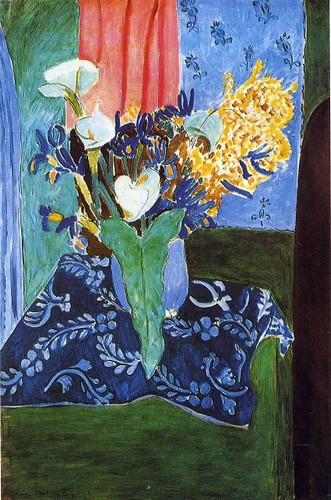 Calla Lilies Irises And Mimosas 1913 By Henri Matisse Art Reproduction from Wanford