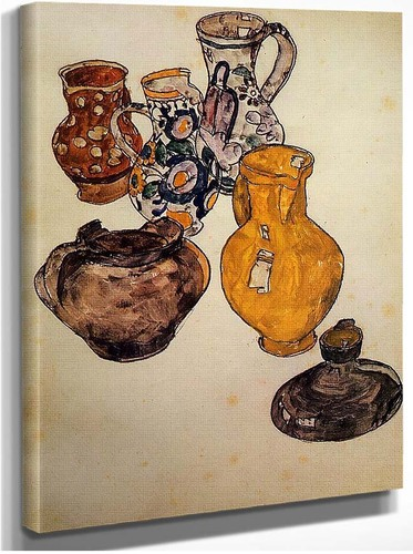 Ceramics 1918 By Egon Schiele