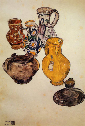 Ceramics 1918 By Egon Schiele Art Reproduction from Wanford