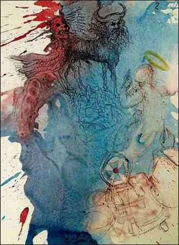 Cherub Super Limen Domus Ezekiel 9 3 1967 By Salvador Dali Art Reproduction from Wanford