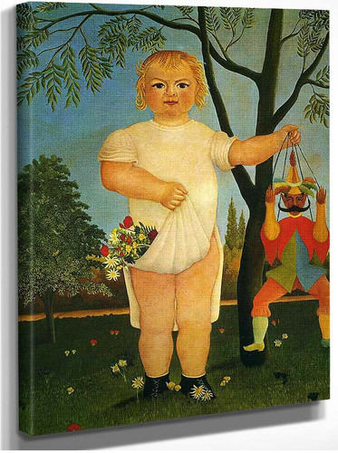 Child With A Puppet By Henri Rousseau