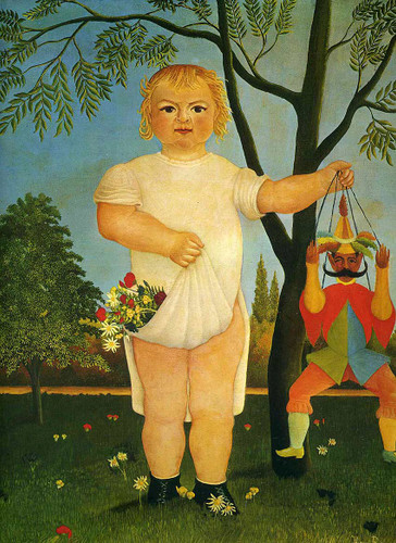 Child With A Puppet By Henri Rousseau Art Reproduction from Wanford
