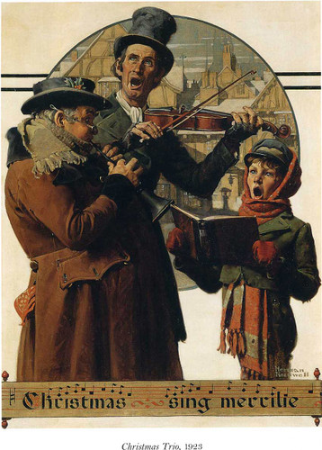 Christmas Trio By Norman Rockwell Art Reproduction from Wanford
